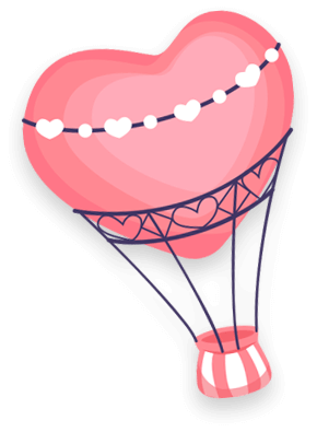 Seed Kindness Fund heart shaped hot air balloon